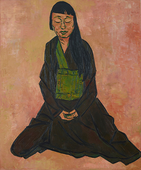 019 Archibald Prize winner Tony Costa's Lindy Lee oil on canvas, 182.5 x 152 cm © the artist Photo: AGNSW, Felicity Jenkins