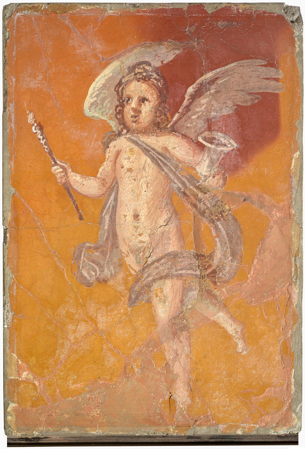 Cupid, Roman, Fresco, H35.2xW24.8xD4.1 cm, courtesy Museo Archeologico Nazionale di Napoli Photo Giorgio Albano