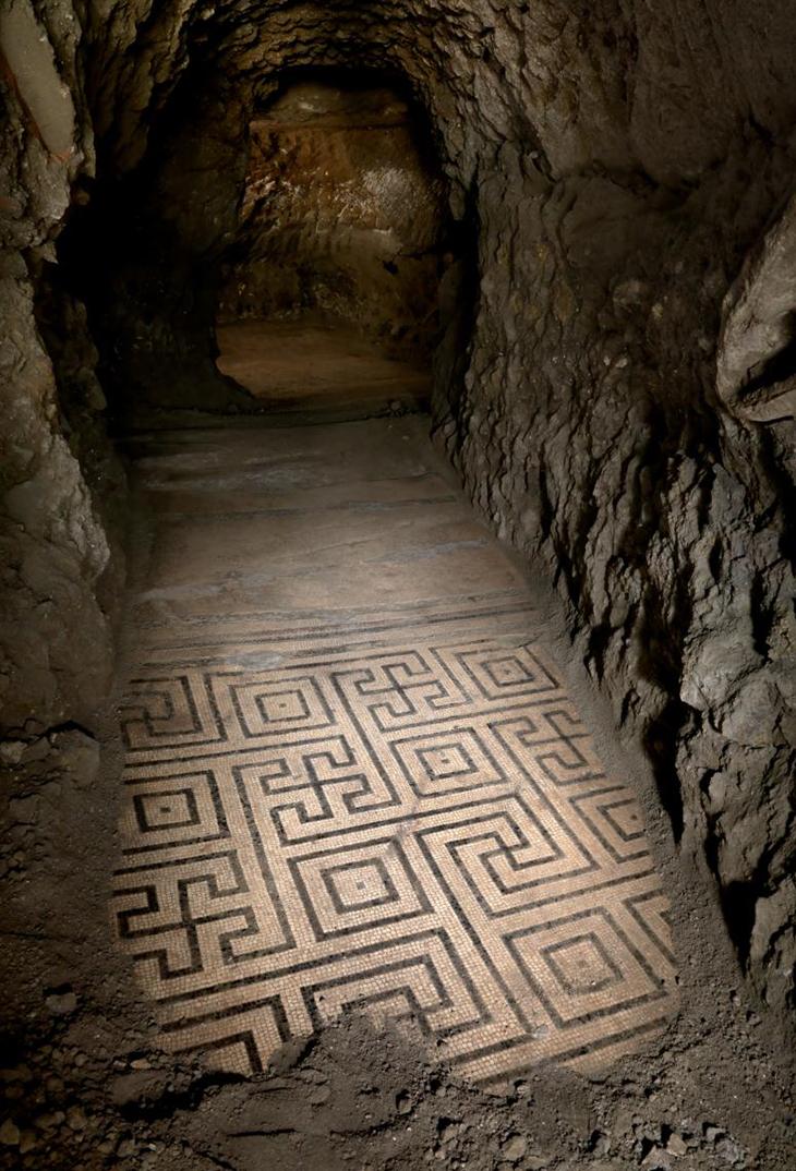 Mosaic Floor Emerging Herculaneum