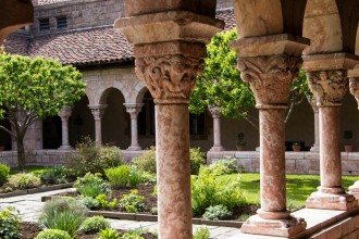 Detail: The Met Cloisters Garden, New York