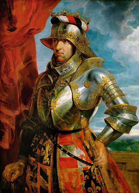 Maximilian in armour, a posthumous portrait in 1618 by Peter Paul Rubens courtesy Kunsthistorisches Museum, Vienna Austria