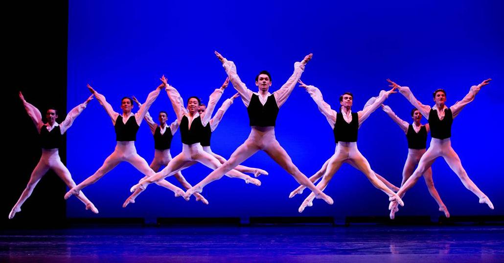Dancers from the Australian Ballet School in 'Valetta'.  Photo: Sergey Konstantinov