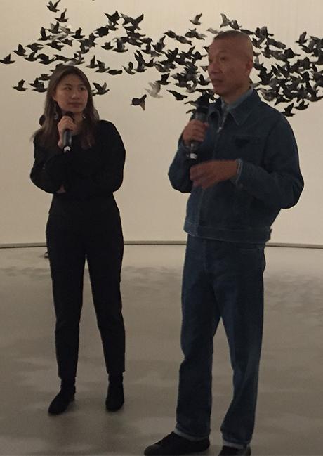 Cai Guo-Qiang and Interpreter