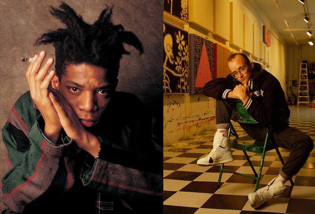 Haring Basquiat Portrait Duo