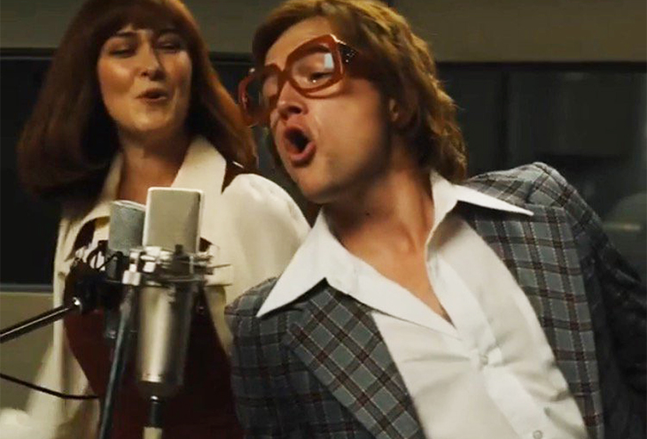Taron Egerton as Elton John  and Rachel Muldoon as Kiki Dee in Rocketman from Paramount Pictures