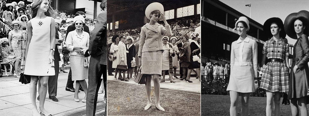 Jean Shrimpton shocking the Melbourne Cup Crowd in 1965 showing off her knees and by 1968 in Australia, others were joining in.