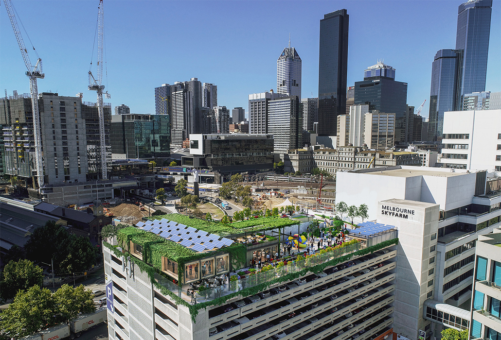 A public rooftop sky farm is being built on a Melbourne skyscraper