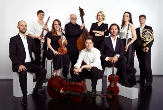 Principal Musicians 2019, David Rowden Clarinet, Sally Walker Flute, Alexandra Osborne Violin, Alex Henery Double Bass, Paul Stender Cello, Maria Raspopova Piano, Neil Thompson Viola, Veronique Serret Violin, Michael Dixon Horn, courtesy Omega Ensemble