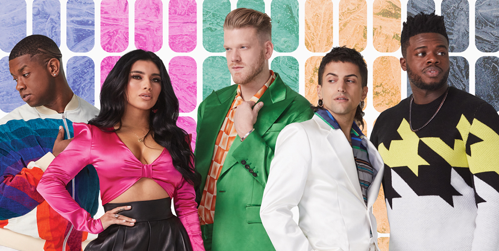 Scott Hoying, Mitch Grassi, Kirstin Maldonado, Avi Kaplan and beatboxer Kevin Olusola - Pentatonix