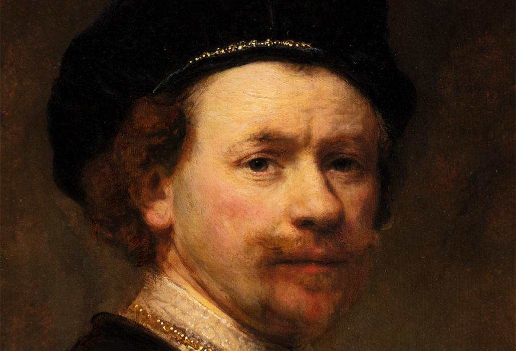 Rembrandt Harmensz. van Rijn (Dutch, 1606–1669) Self-Portrait (detail), about 1636–38. Oil on panel, 24 7/8 x 19 7/8 in. (63.2 x 50.5 cm). The Norton Simon Foundation, Pasadena, F.1969.18.P courtesy Getty Museum, Getty Center, Los Angeles