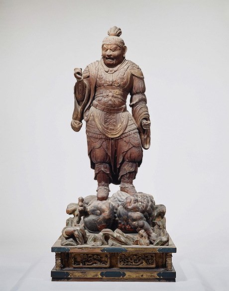 Heavenly King Virudhaka (J. Z?ch?ten) from the Lecture Hall, AD 700s, wood, T?sh?daiji temple, National Treasure  Photo provided by Nara National Museum (photographer: Morimura Kinji)