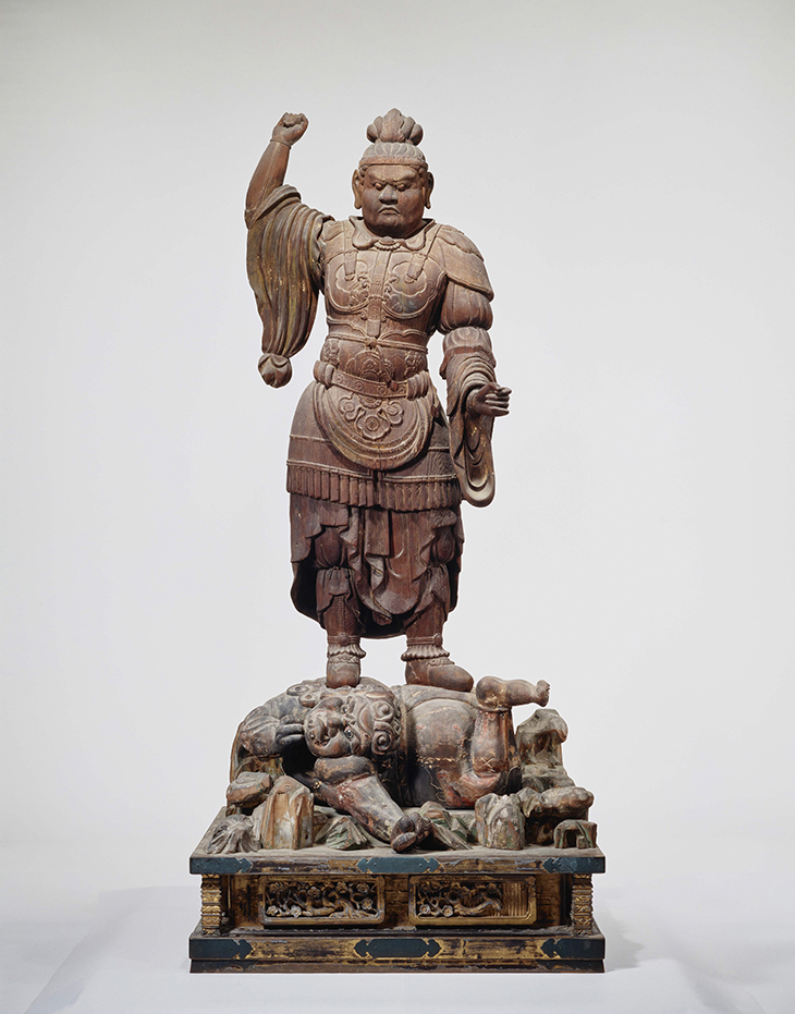 Heavenly King Dhrtarastra (J. Jikokuten) from the Lecture Hall, AD 700s, wood, T?sh?daiji temple, National Treasure Photo provided by Nara National Museum (photographer: Morimura Kinji)