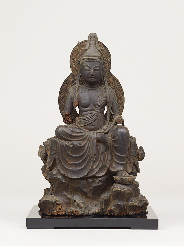 Bodhisattva of Compassion of the Wish-Granting Wheel (J. Nyoirin Kannon), AD 1000s, wood, Saidaiji temple, Important Cultural Property, Photo courtesy of Tokyo National Museum (Image: TNM Image Archives)