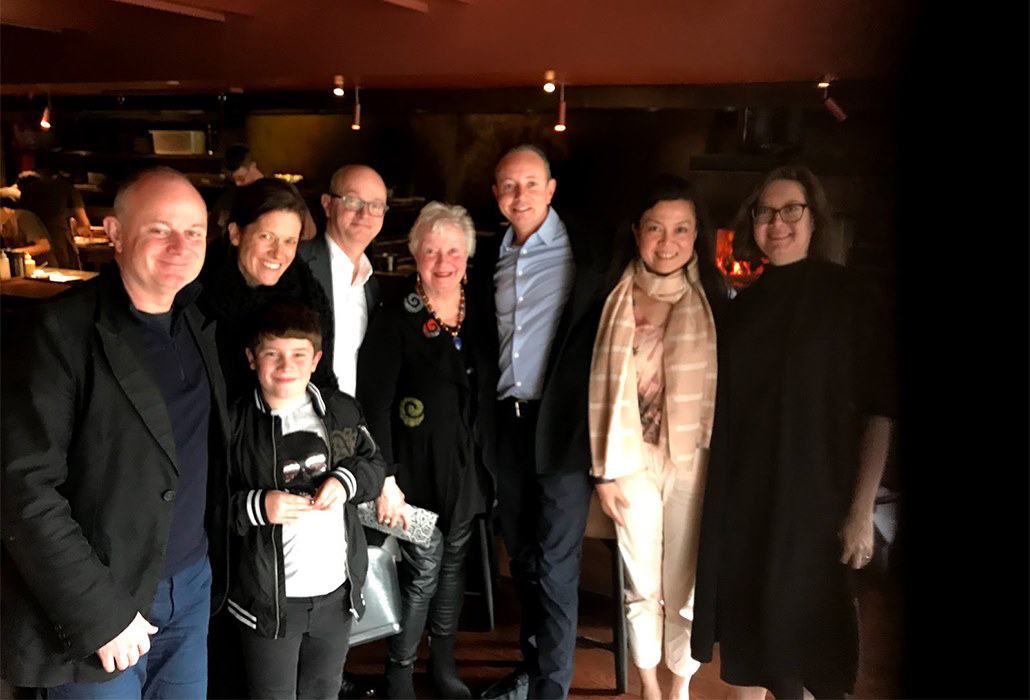 Mother's Day, Matilda Restaurant, South Yarra, 2019 — with Ross McDowall, Jen Marshall, Colton, Paul McDowall, Craig McDowall, Grace Pan and Belinda McDowall.