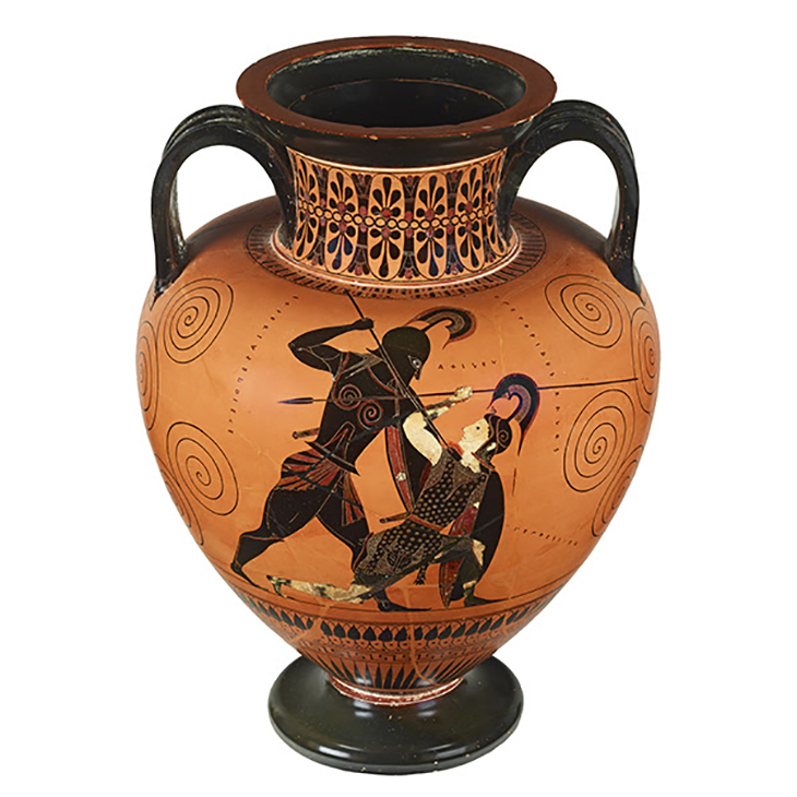 Achilles and Penthesilea on Vase