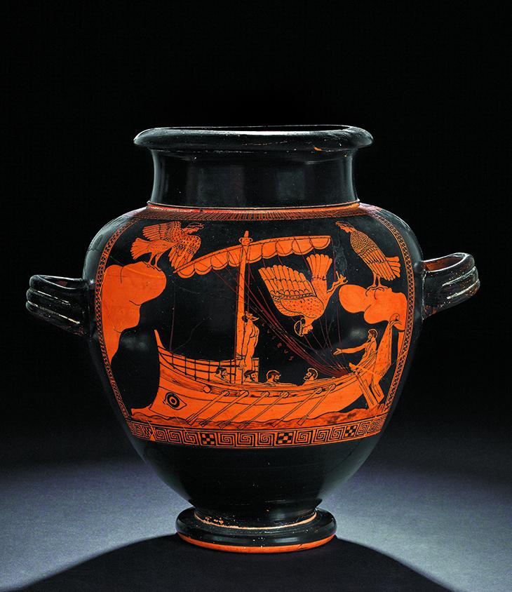 Black Figure Vase Troy