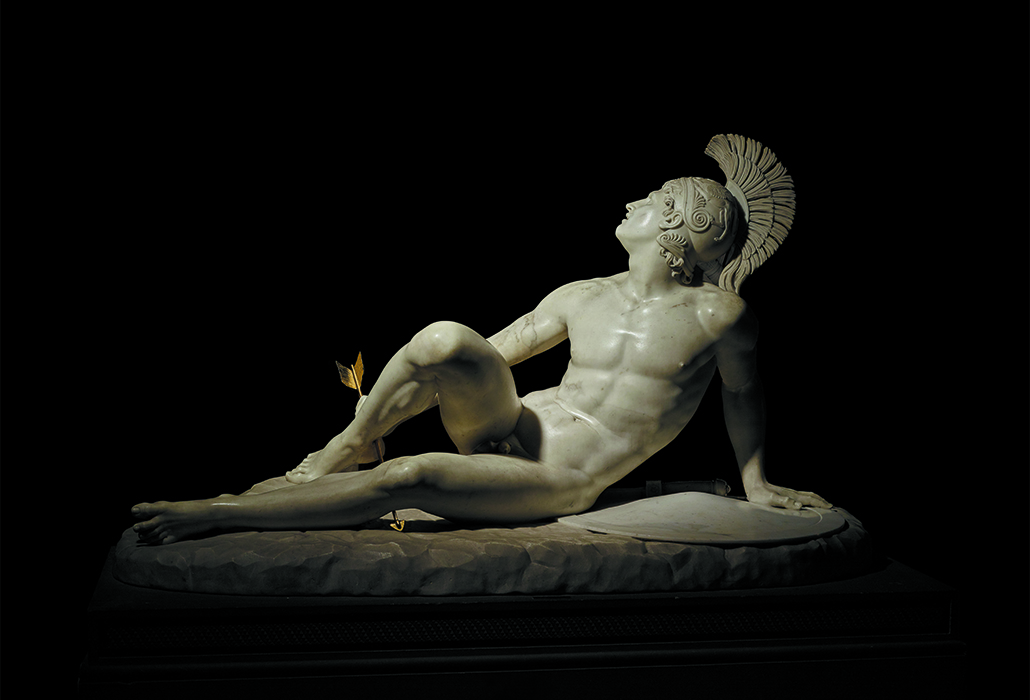 Filippo Albacini (1777-1858), The Wounded Achilles, 1825, marble, Chatsworth House Photograph © The Devonshire Collections, Chatsworth. Reproduced by permission of Chatsworth Settlement Trustees