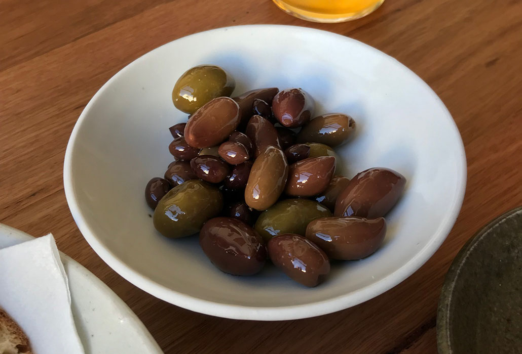 Warm Olives, superb at Omnia, South Yarra