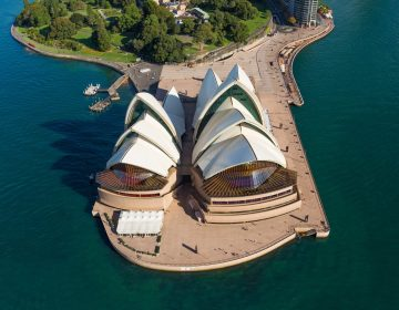 Sydney Opera House Aerial Harbour Photograph