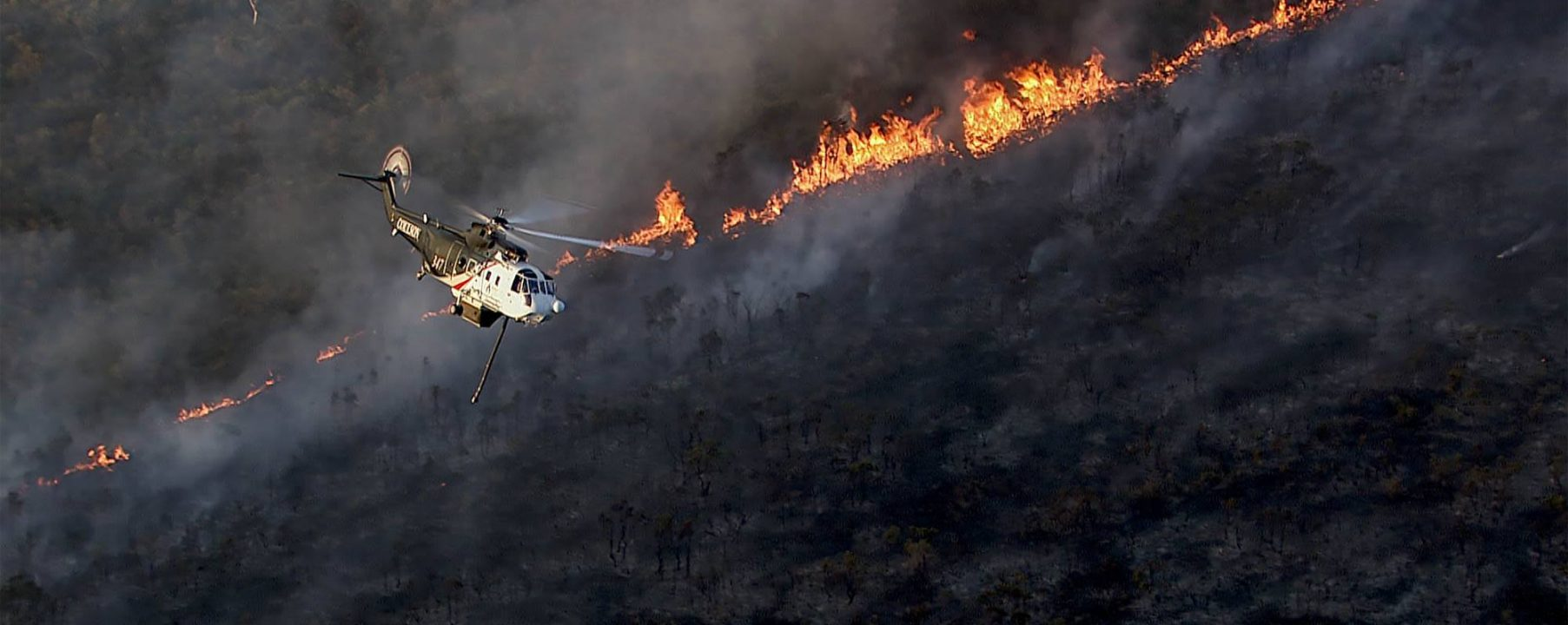 Helicopter Fire And Survey Aerial Photograph