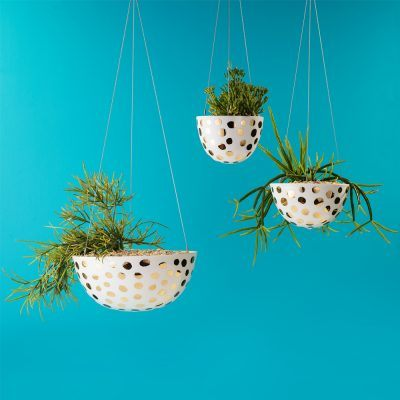 Gold & Silver Hanging Planters