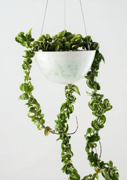 Angus & Celeste Crystalline Green Hanging Planter Medium