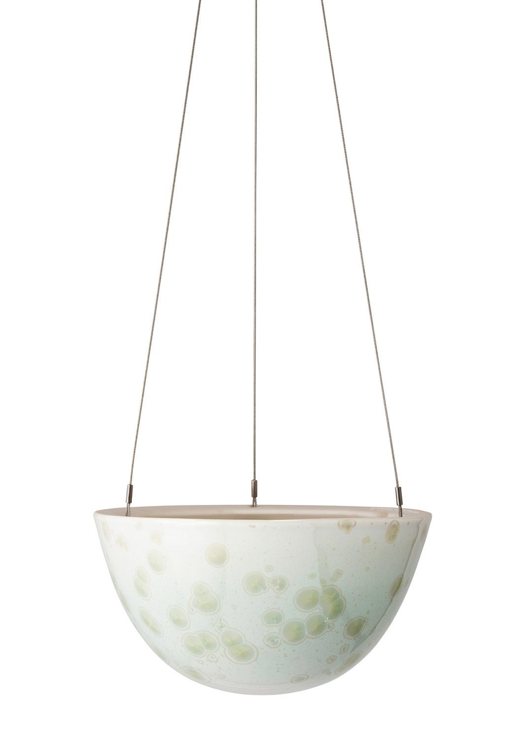 Crystalline Hanging Planter Green Medium