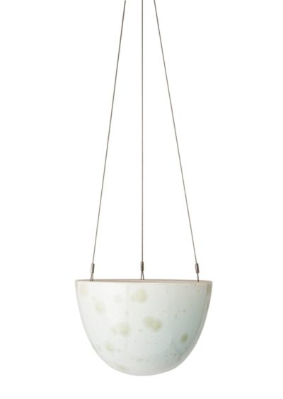 Crystalline Hanging Planter Green Small
