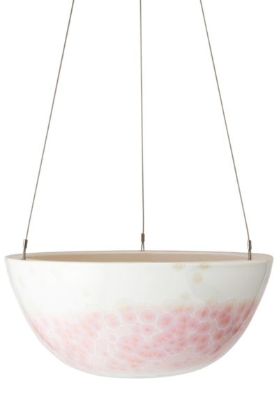 Crystalline Hanging Planter Pink Large