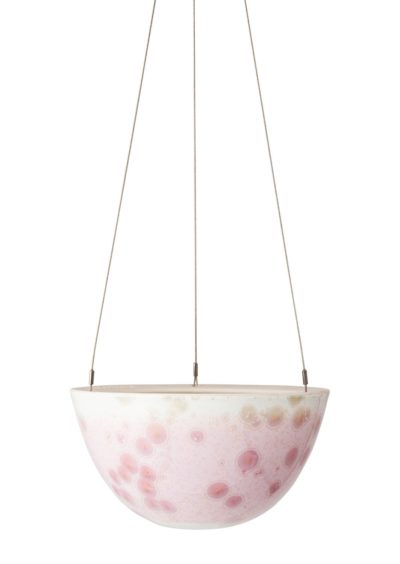 Crystalline Hanging Planter Pink Medium