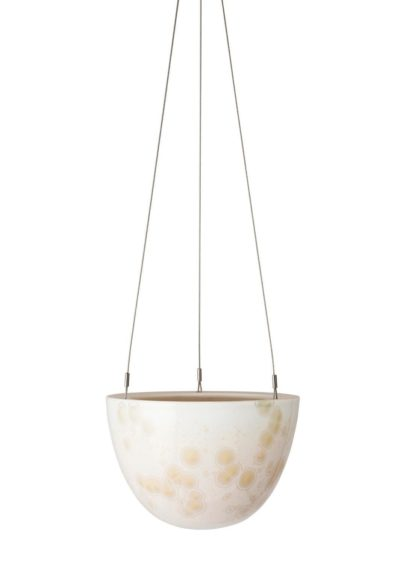 Crystalline Hanging Planter Yellow Small