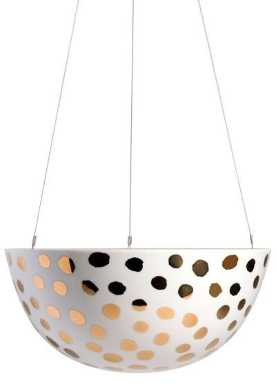 Hanging Planter Large Gold Spot