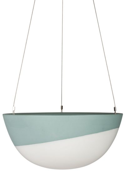 Minimal Hanging Planter Large Peacock Green