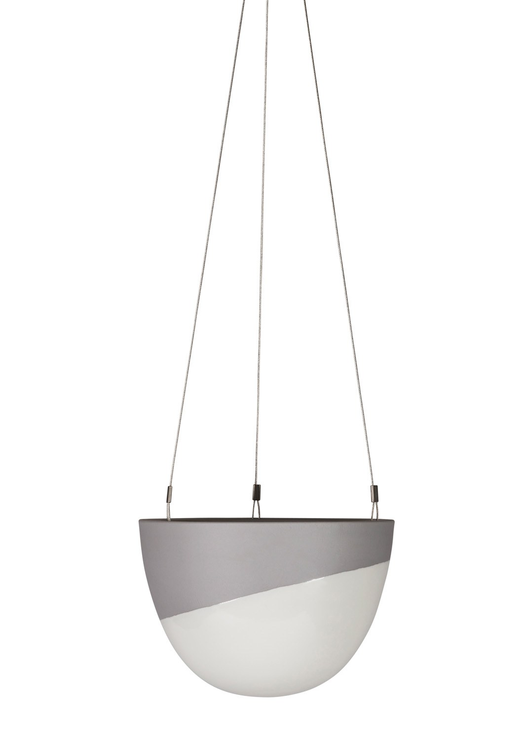 Minimal Hanging Planter Small Grey