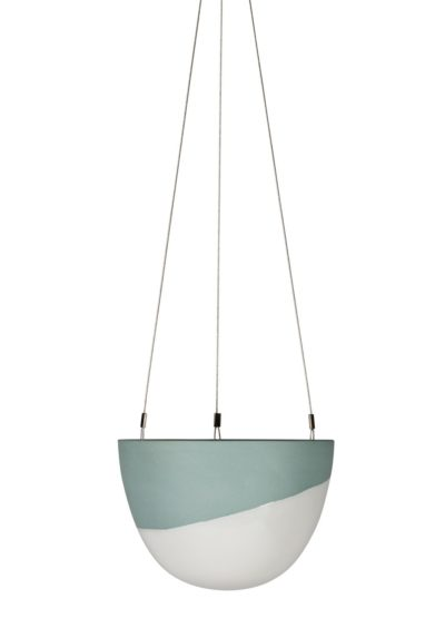 Minimal Hanging Planter Small Peacock Green