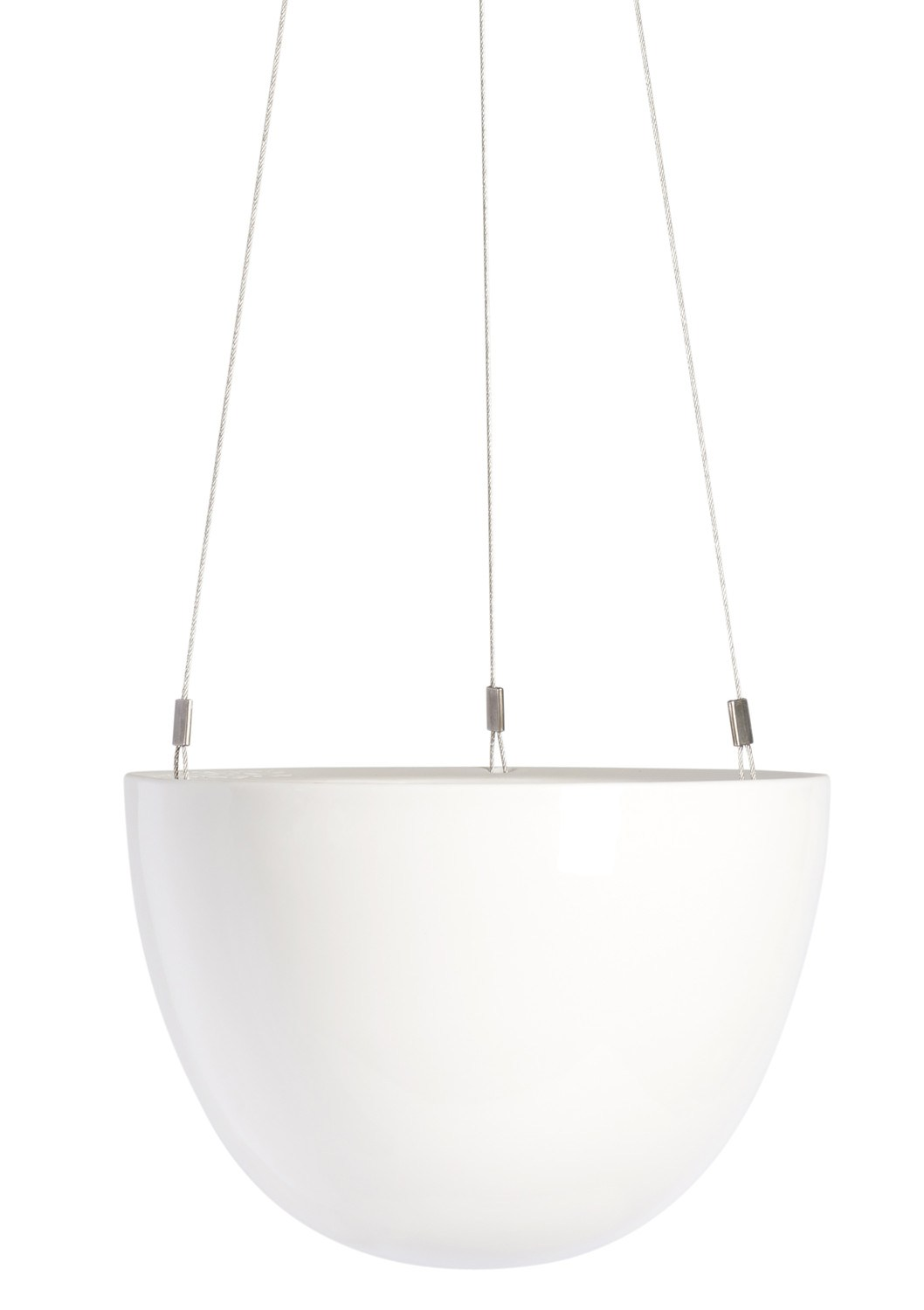 Angus & Celeste White Hanging Planter Small