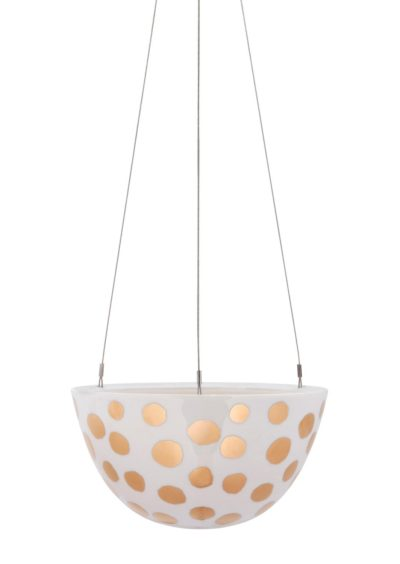 Hanging Planter Medium Gold Spot