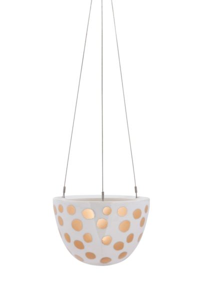 Hanging Planter Small Gold Spot