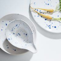 Angus & Celeste Blue Crystal Dinner Set