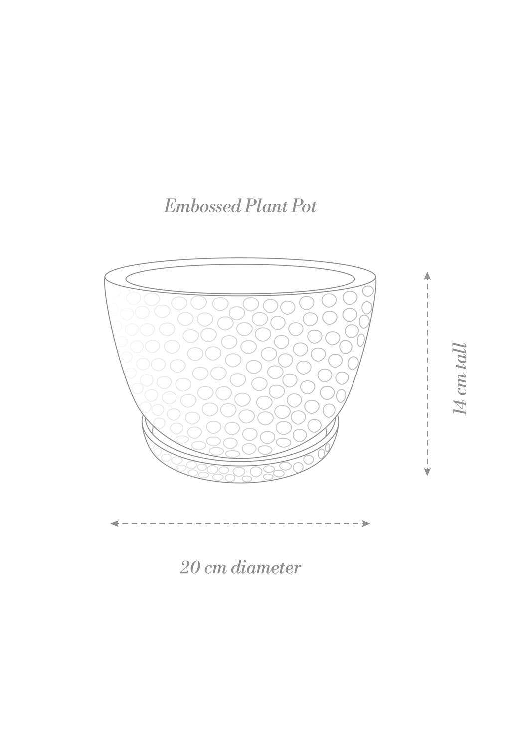 Embossed Plant Pot Product Diagram