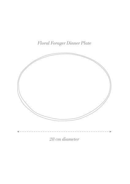Floral Forager Dinner Plate Product Diagram