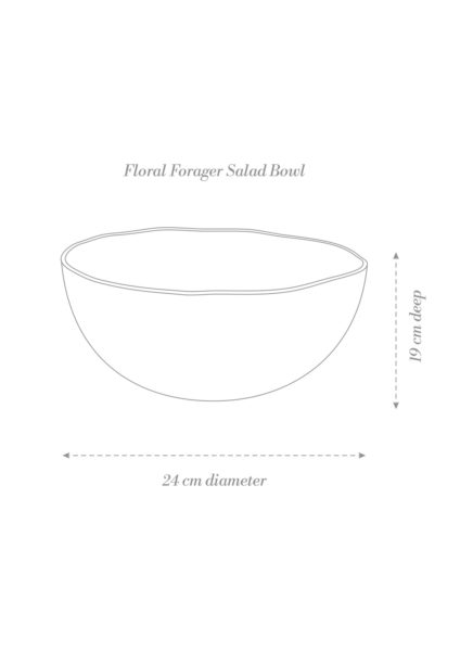 Floral Forager Salad Bowl Product Diagram
