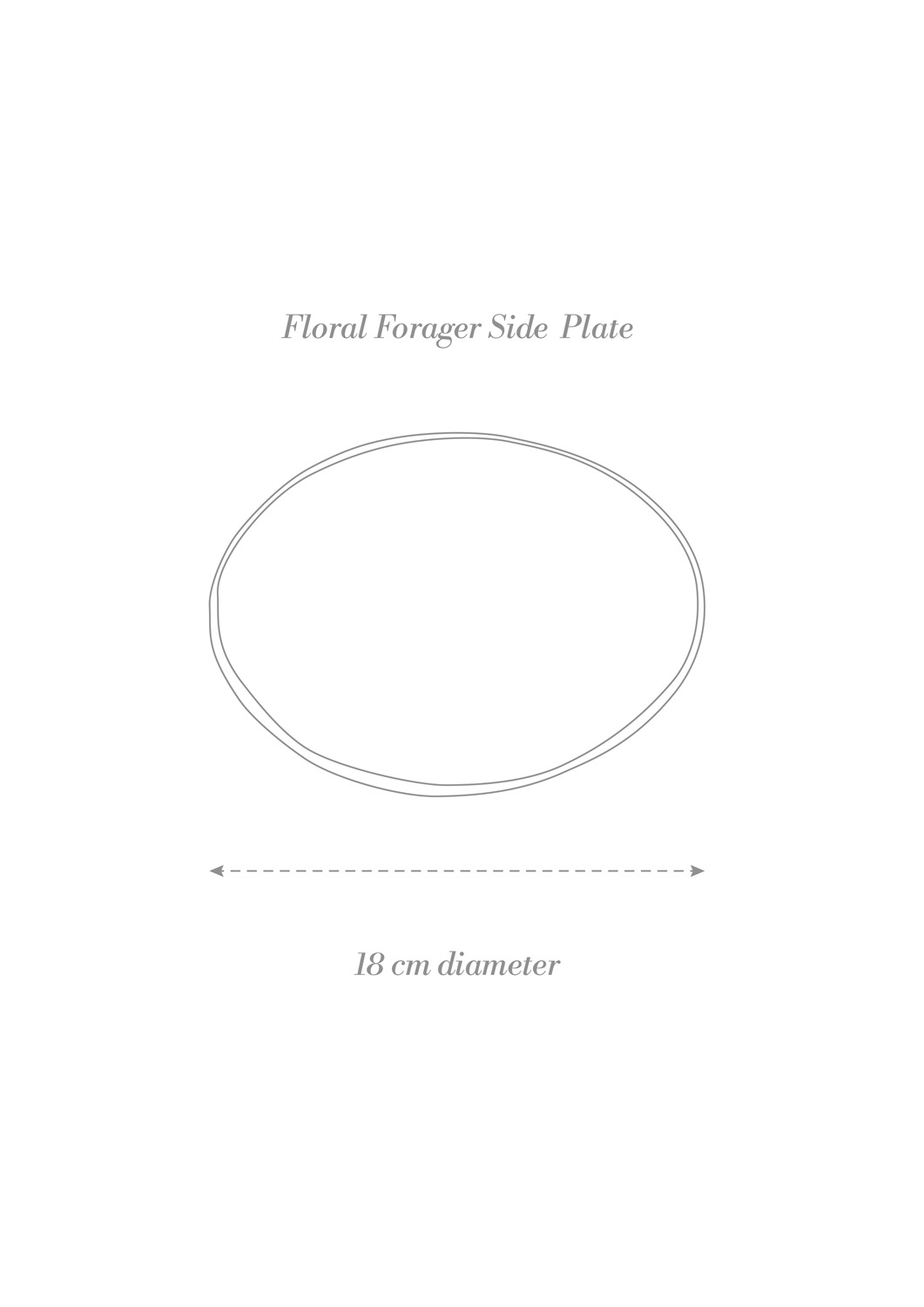 Floral Forager Side Plate Product Diagram