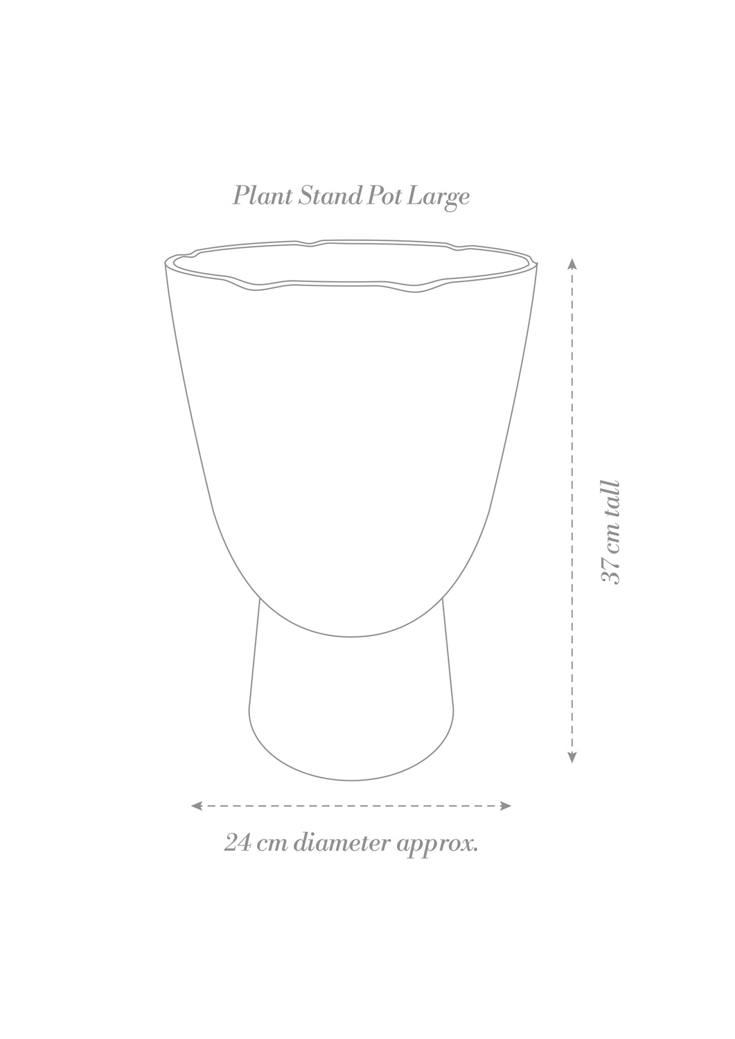 Plant Stand Pot Large Product Diagram