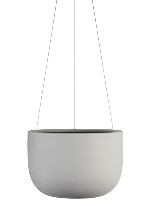 Raw Earth Hanging Planter-Small Siltstone Grey