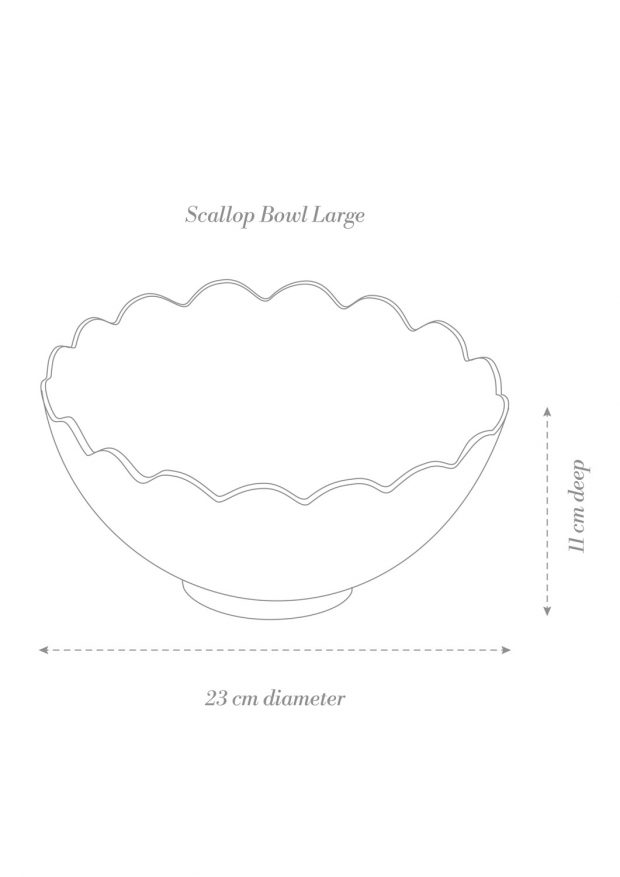 Scallop Bowl Large Product Diagram