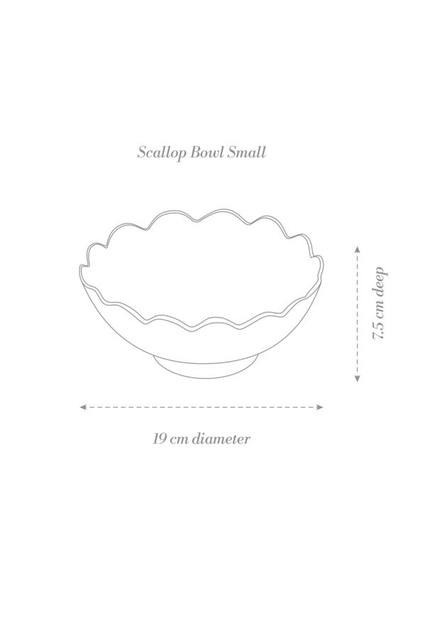Scallop Bowl Small Product Diagram