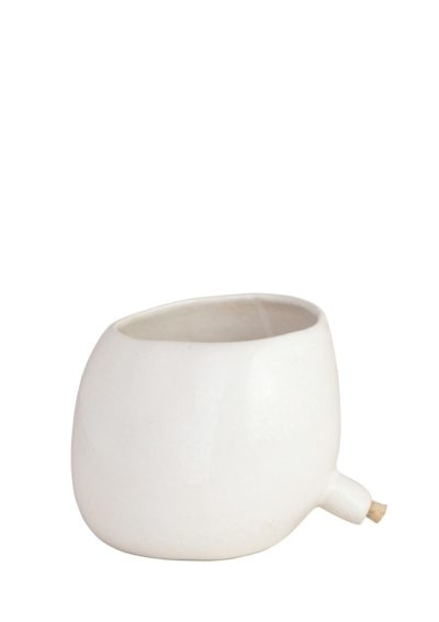 Spouted Plant Pot White