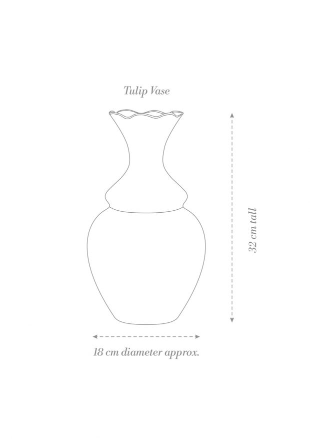 Tulip Vase Product Diagram