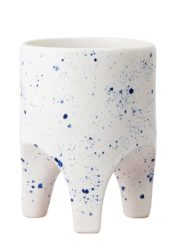 Angus & Celeste Arched Leg Planter Blue Crystal